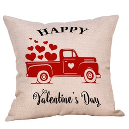 Valentine Pillows Gift UK - 2019 Valentines Pillow Case 23 colors square Striped Plaid Letter Love print Pillow Covers Sofa Nap Cushion Cover Home Decors Lover Gifts