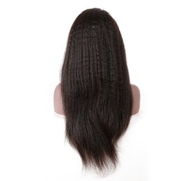 Kinky Straight Hair For UK - Full Lace Hair Wigs For Women Kinky Straight Wigs Lace Wig Brazilian Remy Pre Plucked Hairline With