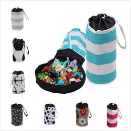 Toptan satış 22 stil depolama kova renkli sihirli depolama kova çocuk oyuncak depolama sepeti çocuk odası organizatör çocuklar için en iyi hediye