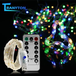 usb string holiday lights NZ - Usb Led String Light Colorful Waterproof Led Copper Wire Strings Holiday Lighting Fairy For Christmas Party Wedding Decoration