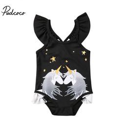 Swimwear Infant Australia - 2018 Brand New Toddler Infant Child Kids Baby Girls Unicorn Bikini Set Swimwear Swimsuit Bathing Beachwear Unicorn One Piece Set