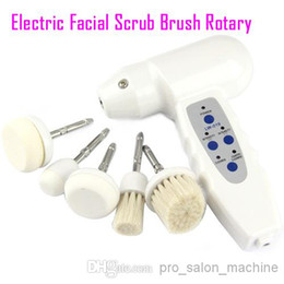 Electric Scrubbing Brushes NZ - Electric facial cleansing brush scrub brushes Rotary face care massager facial brush