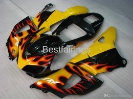$enCountryForm.capitalKeyWord Australia - ZXMOTOR 7gifts fairing kit for YAMAHA R1 1998 1999 yellow black fairings YZF R1 98 99 BX12