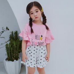 Baby Girl Summer Suits Australia - 2019 summer new children's cotton home service suit boys and girls air conditioning clothes baby pajamas a generation