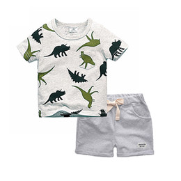 China Biniduckling Boys Sets 2018 Children Set Summer Boy Shorts Clothes Cartoon Dragon T-shirt And Pants For Kids Baby Cotton Suit J190513 supplier rubber shirts suppliers