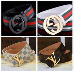 20192018 Cintura di design Uomo e donna Cinture moda Cinture di marca Cintura di lusso in vera pelle Cintura oro Argento Fibbia nera in Offerta
