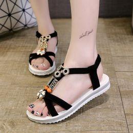 $enCountryForm.capitalKeyWord Australia - New Arrives New Womens China Sandals Flats Ankle-Strap Shoe Women Summer Sandals Flip Flop Sandale Femme Red Sandal