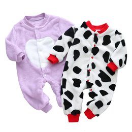 baby boy rompers christmas Australia - 3M-18M Baby Clothes Newborn Flannel Rompers Christmas Costumes Autumn Winter Jumpsuits xmas Children's Clothes for Boys Girl LY191209