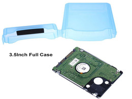 Discount hard case electronic Plastic Full Case Protector Storage Hard Drive Case Box For 3.5 Inch Hard Drive IDE SATA IDE SATA Hard Drive