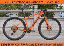 sram bikes NZ - 8.8kg 1X12 Speed Sram XX1 Factory 32 Fork Costelo SOLO 2 Mountain Mtb bicycle bike 29er Thru axle carbon frame carbon wheels
