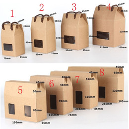 brown paper gifts Canada - 8 Size Window box kraft paper gift box honey jam tea brown sugar boxes Candy Box LX1125