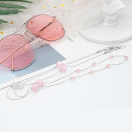$enCountryForm.capitalKeyWord NZ - Glasses Chain Line Women Sunglasses Pink Crystal Bead Eyeglass Hanging Anti-skid Hold Straps Eyewear Retainer Jewelry Rope