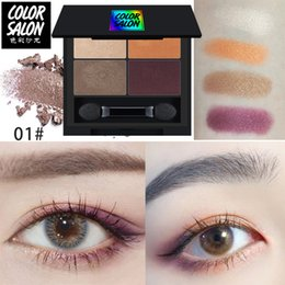blue eyes eyeshadow colors NZ - Color Salon Glitter Eyeshadow Matte Shimmer Palette Long Lasting Waterproof Mineral Powder Eye Shadow