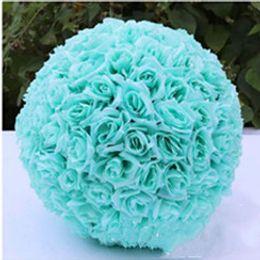 $enCountryForm.capitalKeyWord NZ - Artificial Rose Flower Ball 12 Inch 30cm Wedding Decoration Flower Ball Silk Flower Ball for Home Garden Market Decor