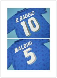 444491c2f 94 world cup Italy Retro rugby Jersey Roberto Baggio Maldini Baresi  Albertini Donadoni Zola Conte 1994 Italia Vintage classic shirts S-XXL