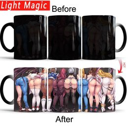 magic mug color Australia - Sexy Butt Mug Anime Game Coffee Tea Heat Sensitive Mug Changing Color Magic Mug Best Gift for Your Friends drop shipping mugs