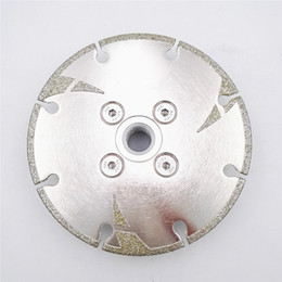 Carbide Coating Australia - D105-125mm 5 Pieces Electroplated Diamond Cutting Grinding Disc M14 Flange With Protection Coated Diamond Blade Granite Marble