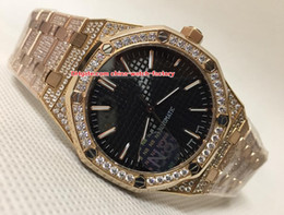 DiamonD gem stone online shopping - Luxury Top Quality Watch mm Offshore k Rose Gold Diamond Bezel OR OO OR OO OR Asia Movement Automatic Mens Watches
