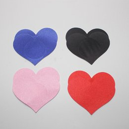 Wholesale 1 Pairs Sexy Milk Heart Paste Women Star Sequin Pasties Breast Bra Heart Nipple Cover Adhesive For Erotic Lingerie Stickers