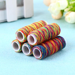 shoe linings Australia - 5pcs Hand Stitched Denim Thread Line Diy Sewing Thread For Bags Jeans Clothing Shoes And Hats