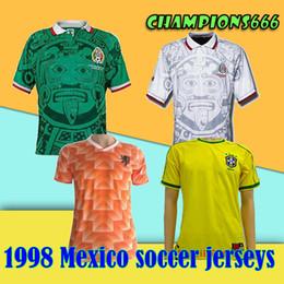 c98a6de66cb 1998 World Cup Mexico Retro Soccer Jerseys 1998 Mexico National Football  Team Away Soccer Shirts #11 BLANCO #2 SUAREZ Football Jersey