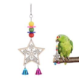 $enCountryForm.capitalKeyWord NZ - Bird Toys Wooden Five Stars Snowflake Christmas Pet Toy For Parrot