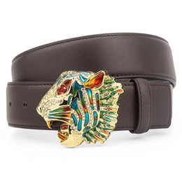 26fe5c69b6e3 Colorful Animals Head Buckle Luxury Unisex Belts Italy Brand Men Women Belt  Genuine Leather Straps Fashion Business Belts with Original Box