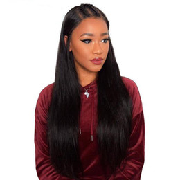 long 22 inch brazilian hair Australia - Lace Front Wigs Brazilian Remy Hair Wigs Yaki Straight 22 Inches Natural Color 4.5 Inches Deep Parting 150% Density Human Lace Wigs