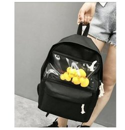 Plain Yellow Backpack Australia - 2019 newTransparent small yellow duck backpack Korean version Harajuku girl high school student bag female tide backpack 4 durk