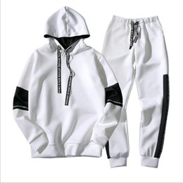 $enCountryForm.capitalKeyWord Australia - Men Tracksuit Quality Spring Men Sporting Hooded Hoodie+Pants Two Piece Sweat Set Jogger Track Suit For Clothes