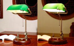 $enCountryForm.capitalKeyWord NZ - JESS Bankers desk lamp vintage table lighting fixture green glass cover shade birch wood base antique adjustable articulatingl cord