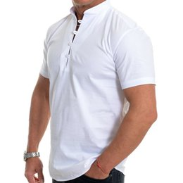 black white male shirt Australia - VICABO Fashion Men's Shirt Solid White Black Top Men Clothing Casual Elegant Vintage Male Shirt Clothes
