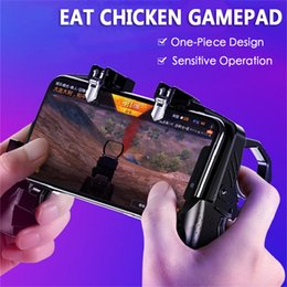 joypad wireless game controller iphone NZ - Pubg Mobile Game Controller Gamepad for Xiaomi Iphone Samsung Huawei Gaming Grip Fan L1r1 Trigger Fire Button Joystick joypad