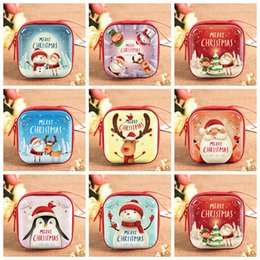 small zip wallet Australia - Special Design 2019 Christmas Kid Gift Santa Claus Coin Purse For Candy Children Pocket Small Money Wallet Pouch Zip Coin Bag