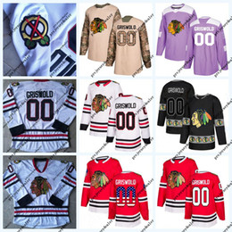 35579ff5a Clark Griswold 00 National Lampoon's Christmas Vacation Hockey Jersey  Chicago Blackhawks Purple Fight Cancer USA Flag Stitched Camo Jersey