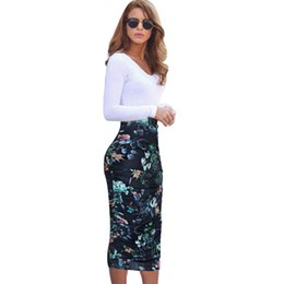 b389ad99e9 Midi pencil skirts online shopping - Vfemage Womens Elegant Ruched Frill  Ruffle High Waist Work Business