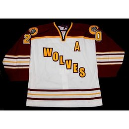 $enCountryForm.capitalKeyWord Australia - Chicago Wolves 14 Matt Anderson 20 Darren Haydar 23 Bill Sweatt hockey jersey Customized Any Name And Number