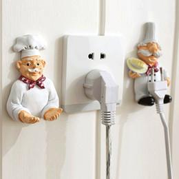 $enCountryForm.capitalKeyWord Australia - Lovely Cartoon Strong Power Socket Storage Rack Hook Creative Rack Home Kitchen Accessories Household Tool Organization
