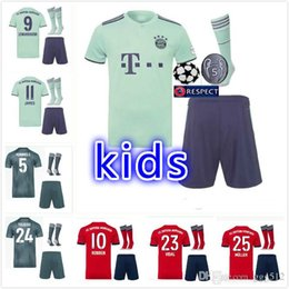 Lewandowski Jersey Australia - 2018 2019 Bayern Munich kids kits Soccer jersey 18 19 MULLER VIDAL LEWANDOWSKI ROBBEN TOLISSO soccer jerseyS JAMES youth Football shirt
