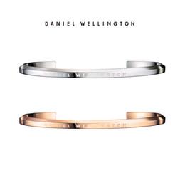 d83573c8937c Daniel Wellington DW Pulseras Brazalete Mujer Hombre Brazalete Acero  inoxidable 100% Oro rosa Plata S L Tamaño