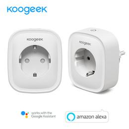 Eu Smart Plug Australia - 2PCS Koogeek Smart Wifi Socket EU Power Plug Smart Home Plug Wireless Outlet APP Remote Control For Amazon Alexa Google Home