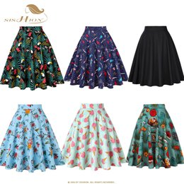 Women Tutu Plus Size Australia - Sishion Skirts Womens Plus Size Women Black Skirt Vd0020 Tutu Skirt Women Parrot Palm Floral School Jupe Femme High Waist Skirt Y19060501