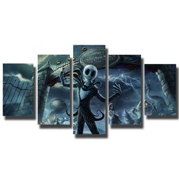$enCountryForm.capitalKeyWord UK - Nightmare Before Christmas Halloween Movie 5 Pieces HD Poster And Print Canvas Painting Picture For Living Room Home Decoration
