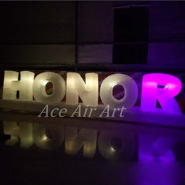 Glow Party Decorations Australia - Popular flashing inflatable letters decoration,glowing inflatable alphabets of honor for party,event or promotion on sale