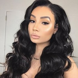 indian hairstyles for women wigs Australia - wholesale 360 full lace human hair wigs body wave brazilian peruvian malaysian raw indian virgin human hair wigs for black women