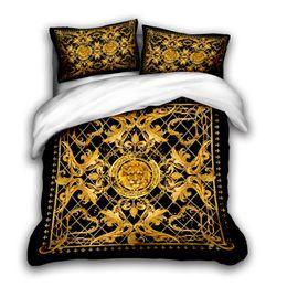 Wholesale 3D designer bedding sets king size luxury Quilt cover pillow case qu0een size duvet cover designer bed comforters sets G1