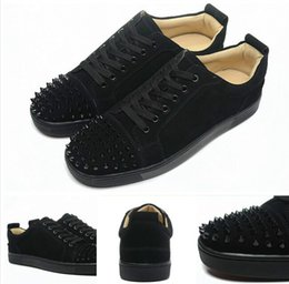 $enCountryForm.capitalKeyWord NZ - High Top Studded Spikes Casual Flats Red Bottom Luxury Shoes New For Mens and Womens Party Designer Sneakers Lovers Genuine Leather 2019