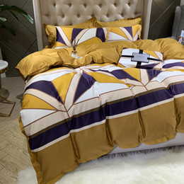 bedding sets for sale UK - 100% Cotton Free Shipping Bedding Set 4pcs Suitable for Men Quilt Cover 1.8m Beding Article Hot Sale Home Textile Popular Sheet