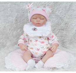 $enCountryForm.capitalKeyWord Australia - 18 inches Silicone Lifelike Reborn Baby Doll Realistic Newborn Babies with Clothing Kids Playmate Birthday Christmas Gift