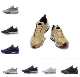 buy popular bcc6d 862e1 2018 Hommes Femmes Nike Air Max 97 Chaussures de course invaincues argent  KPU Undeftd Bullet Or